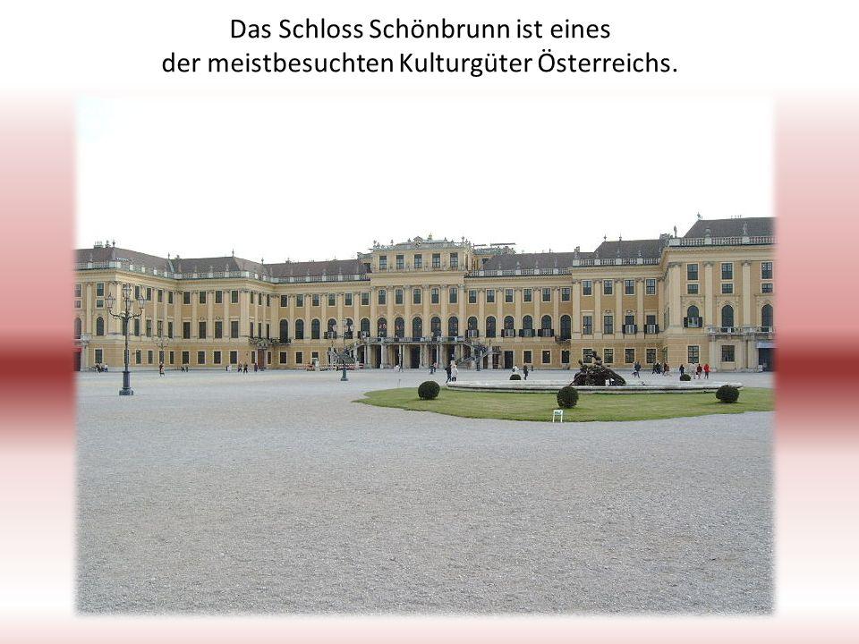 Das Schloss Schönbrunn ist eines der meistbesuchten Kulturgüter Österreichs.