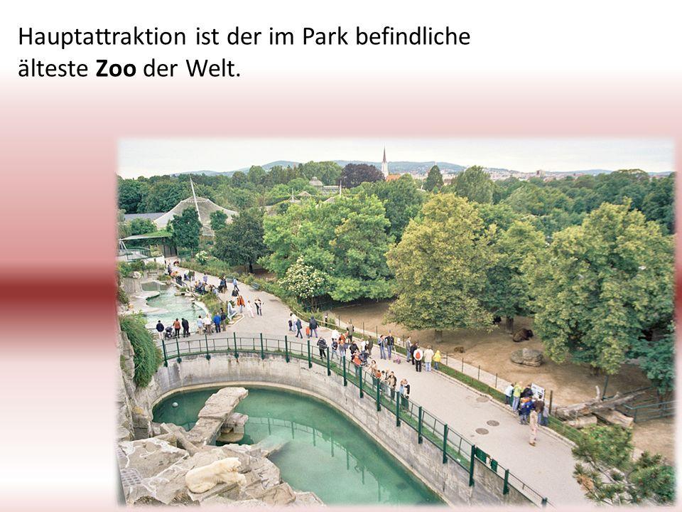 Hauptattraktion ist der im Park befindliche älteste Zoo der Welt.