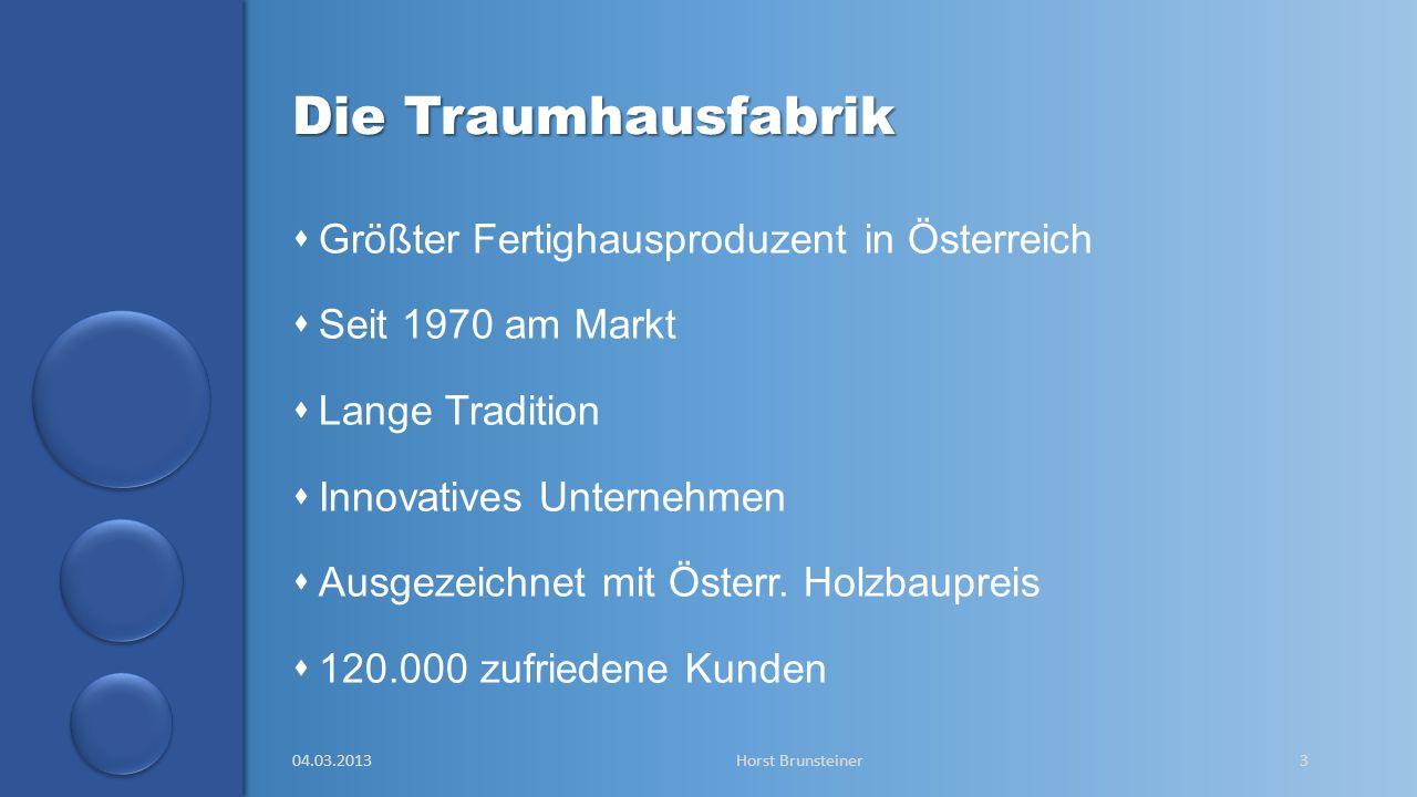 aa Die Traumhausfabrik Größter Fertighausproduzent in Österreich Seit 1970 am Markt Lange Tradition Innovatives Unternehmen Ausgezeichnet mit Österr.