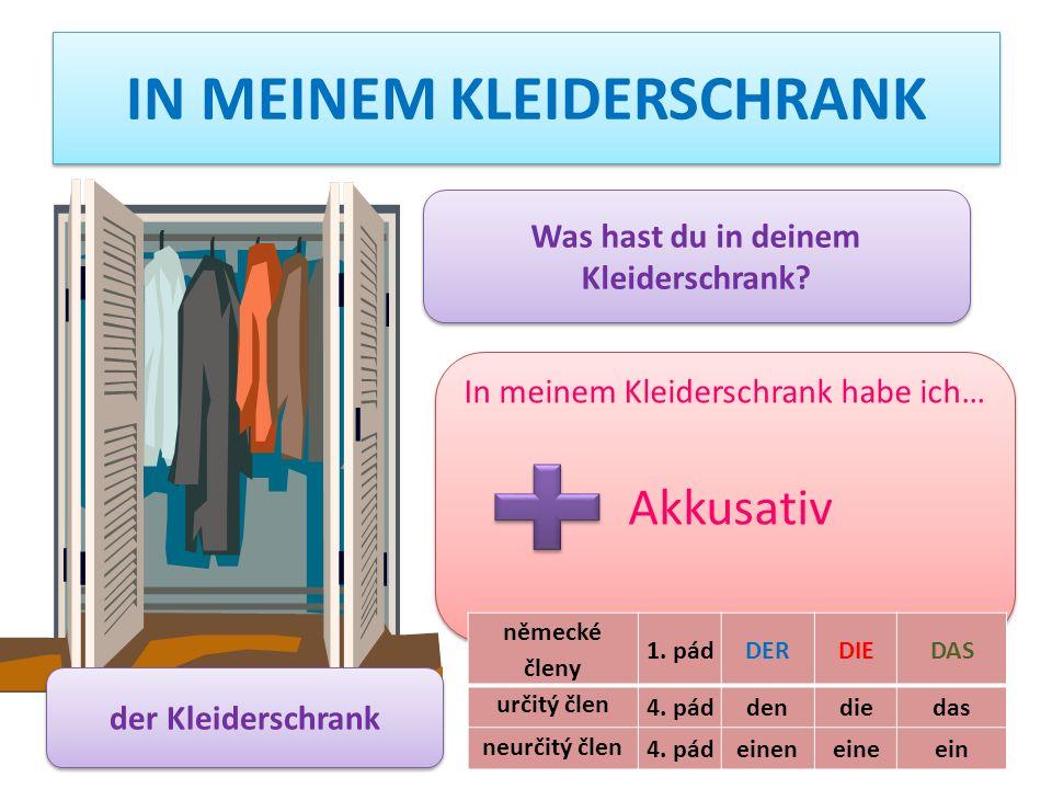 IN MEINEM KLEIDERSCHRANK der Kleiderschrank Was hast du in deinem Kleiderschrank.