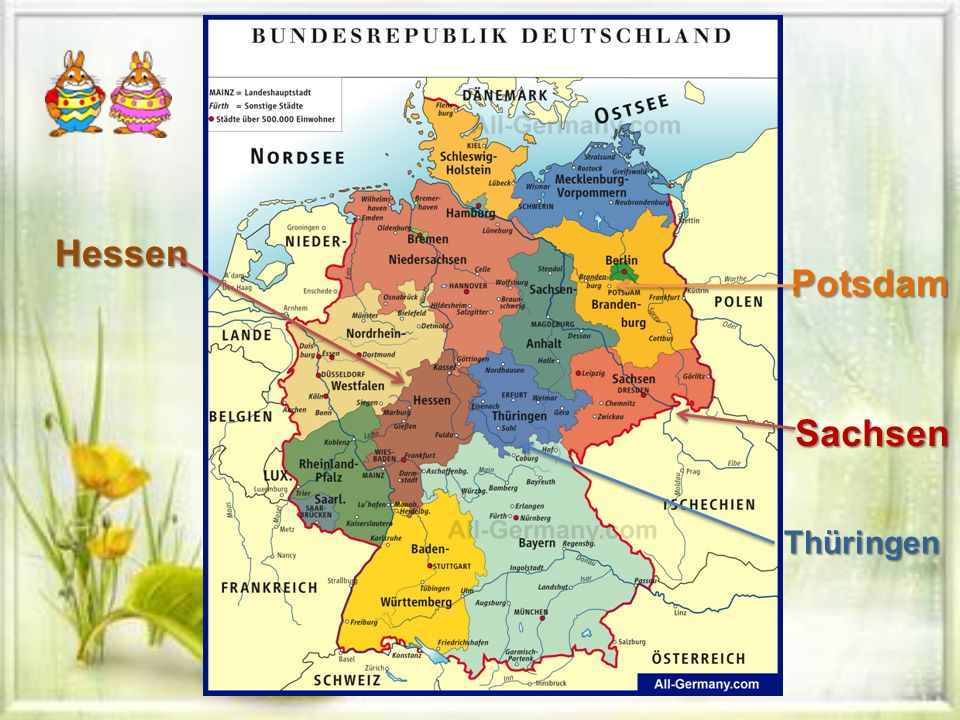 Hessen Sachsen Thüringen Potsdam