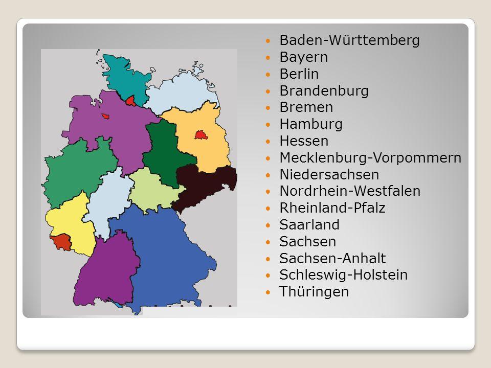 Baden-Württemberg Bayern Berlin Brandenburg Bremen Hamburg Hessen Mecklenburg-Vorpommern Niedersachsen Nordrhein-Westfalen Rheinland-Pfalz Saarland Sa