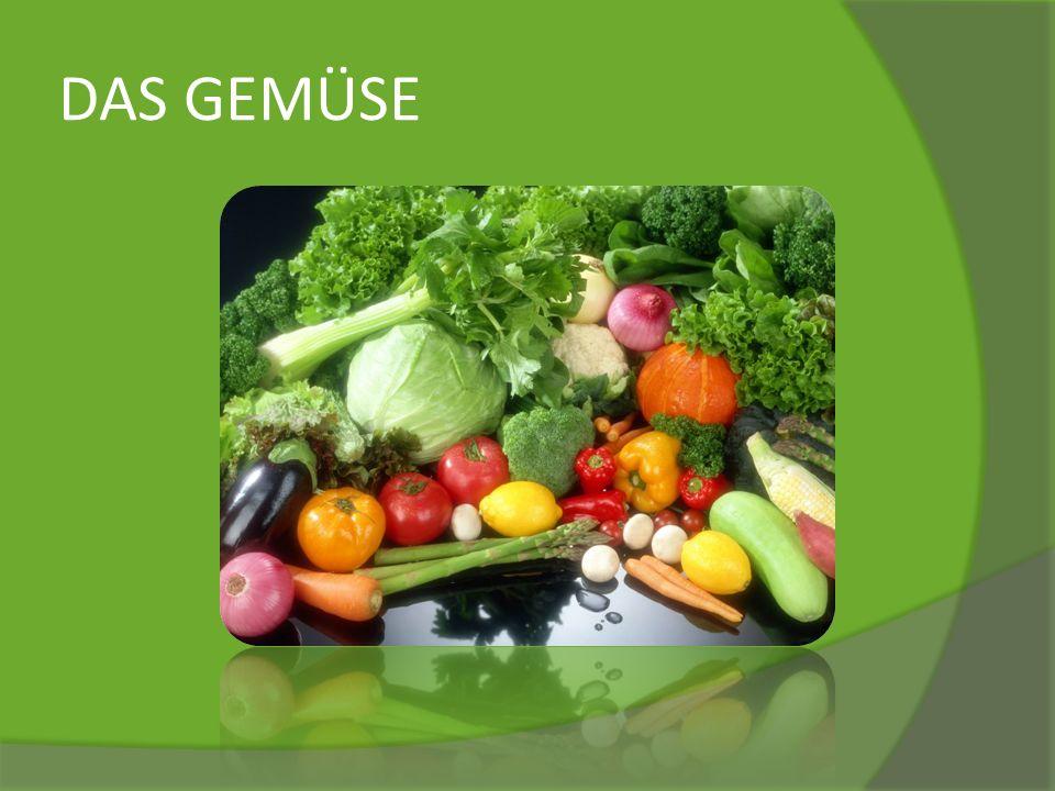 Pojmenujte zeleninu popořadě dle obrázků, kontrola slovíček na kliknutí DAS GEMÜSE