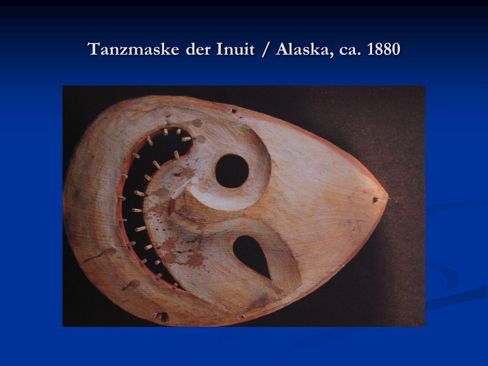 Tanzmaske der Inuit / Alaska, ca. 1880
