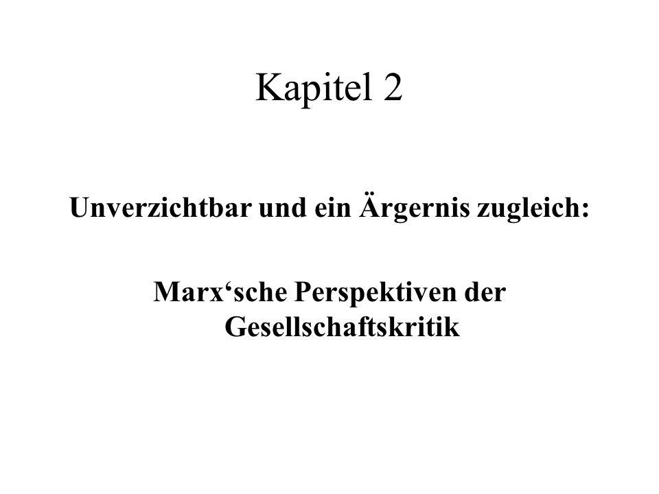 Kapitel 2 Unverzichtbar und ein Ärgernis zugleich: Marxsche Perspektiven der Gesellschaftskritik