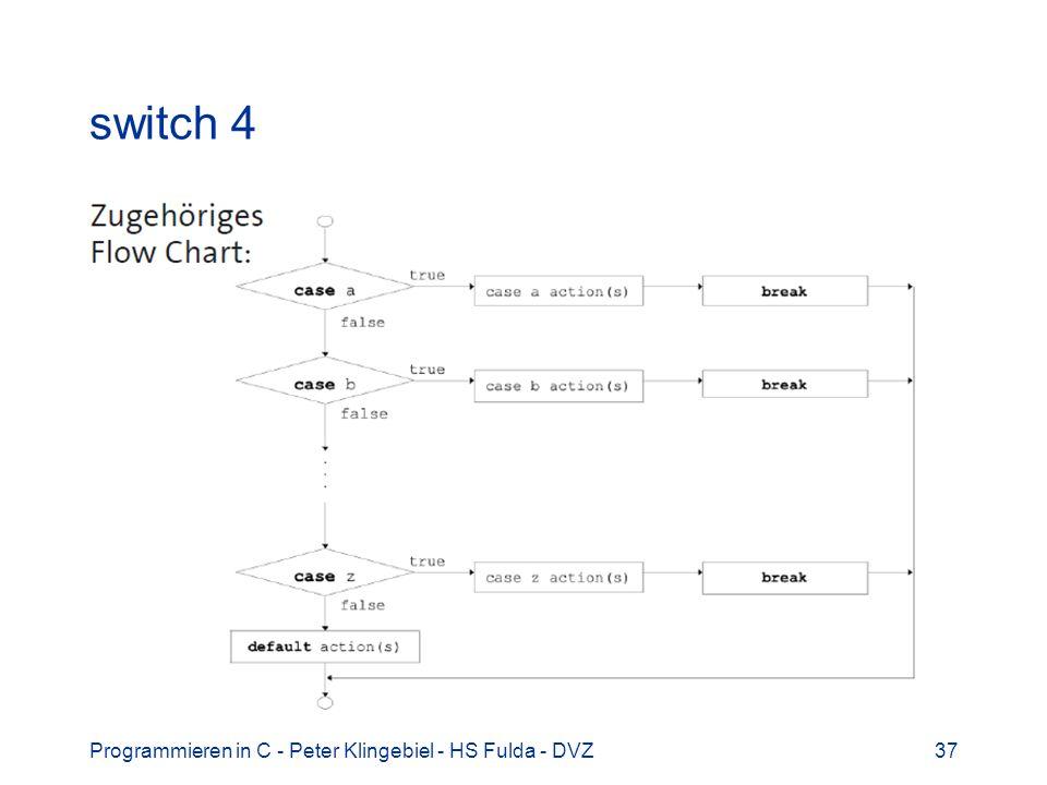 Programmieren in C - Peter Klingebiel - HS Fulda - DVZ37 switch 4