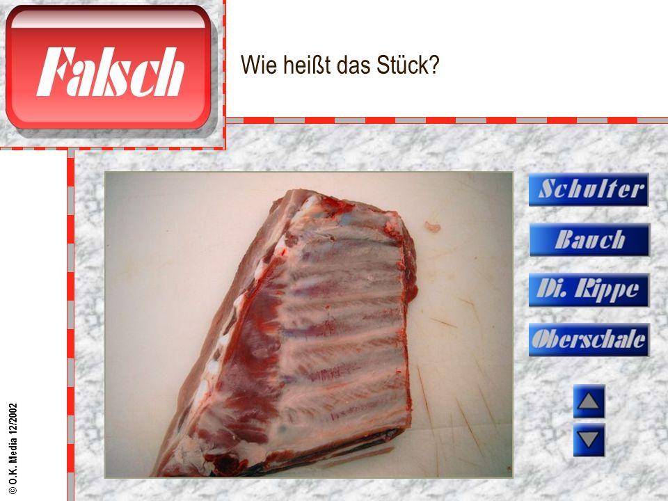 Kennen Sie dieses Fleischstück? © O.K. Media 12/2002