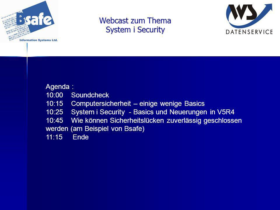 System i Security : Resource Security Resource Security definiert, welcher Benutzer wie welche Objekte verwenden darf.