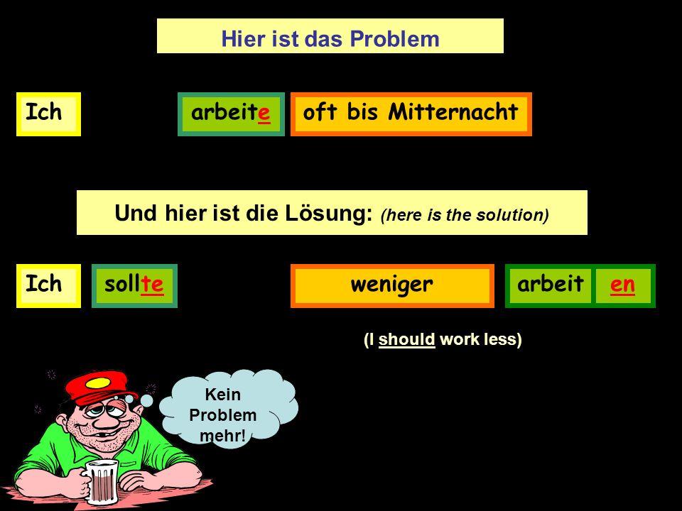 Probleme und Lösungen: 1.2.3.4.5.6.7.8.fdegahcb 1.