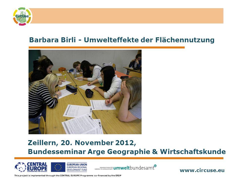 www.circuse.eu © Susanne Stromberg This project is implemented through the CENTRAL EUROPE Programme co-financed by the ERDF Lehrmaterialien Aufgabe 3 - Mobilität Diese Aufgabe sollte jeder Schüler alleine durchführen.