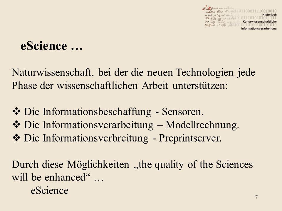 Naturwissenschaft, bei der die neuen Technologien jede Phase der wissenschaftlichen Arbeit unterstützen: Die Informationsbeschaffung - Sensoren.