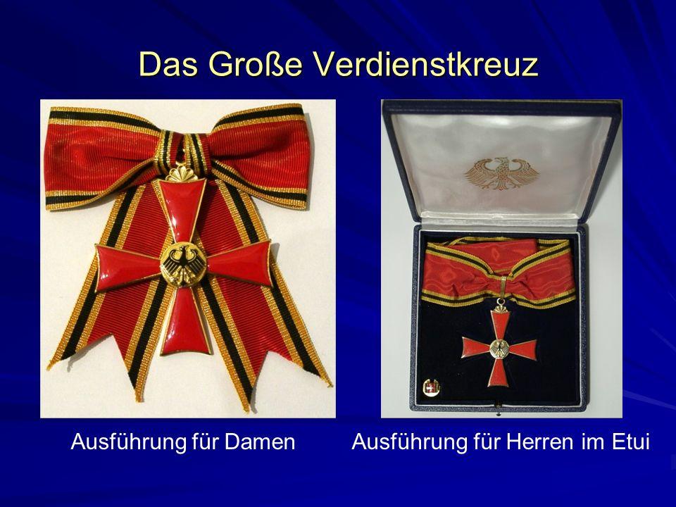 Das Große Verdienstkreuz Ausführung für Damen Ausführung für Herren im Etui