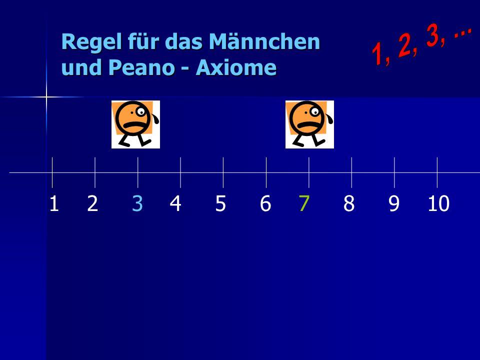 Regel für das Männchen und Peano - Axiome 1 2 3 4 5 6 7 8 9 10