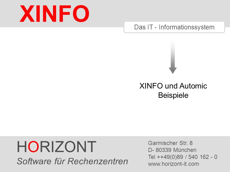 HORIZONT 32 XINFO ® Automic – JOB Netzplan, Suchfunktion In großen Netzen hilft die Suchfunktion