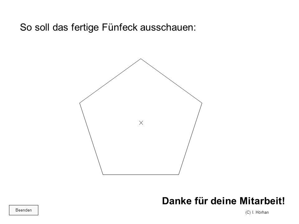 So soll das fertige Fünfeck ausschauen: Danke für deine Mitarbeit! (C) I. Hörhan Beenden