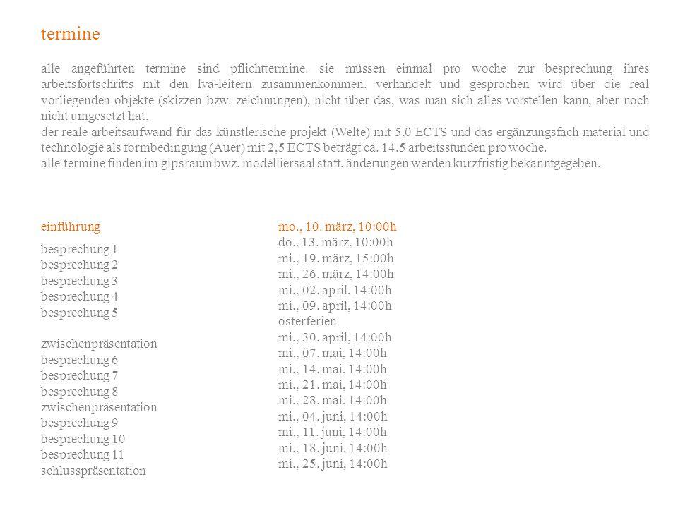 material und technologie als formbedingung 264.135 vu 2,0 h, 2,5 ECTS ass.prof.
