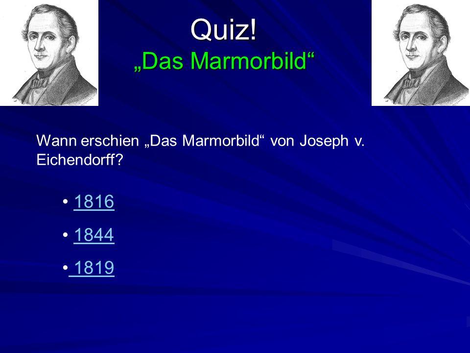 Die Autoren im Vormärz suchten für ihre Figuren Umstände im Dasein. Joseph v. Eichendorff verwendete jedoch gerne mystische Schauplätze an denen die H