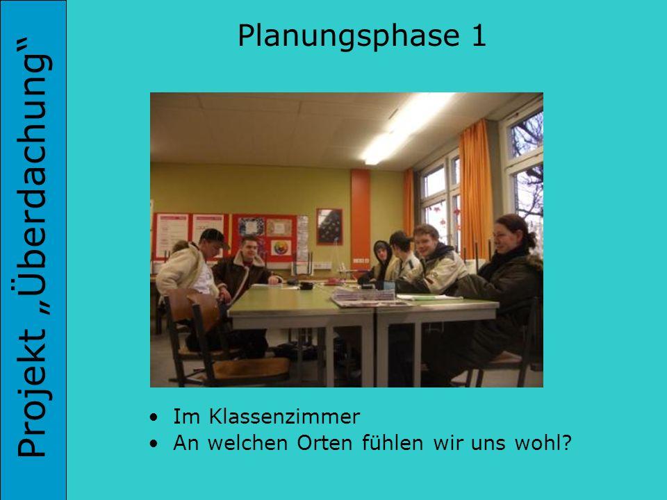 Projekt Überdachung Planungsphase 1 Im Klassenzimmer An welchen Orten fühlen wir uns wohl?