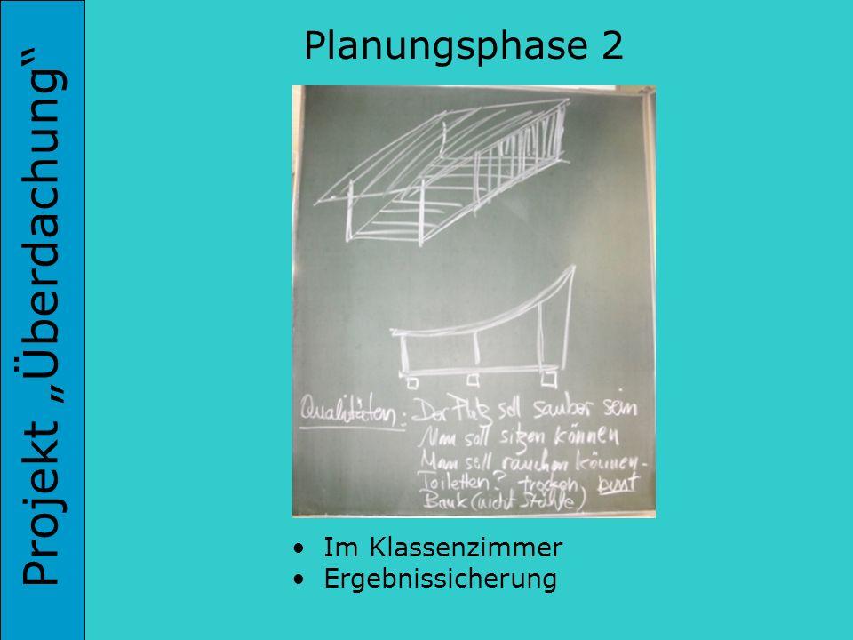 Projekt Überdachung Im Klassenzimmer Ergebnissicherung Planungsphase 2