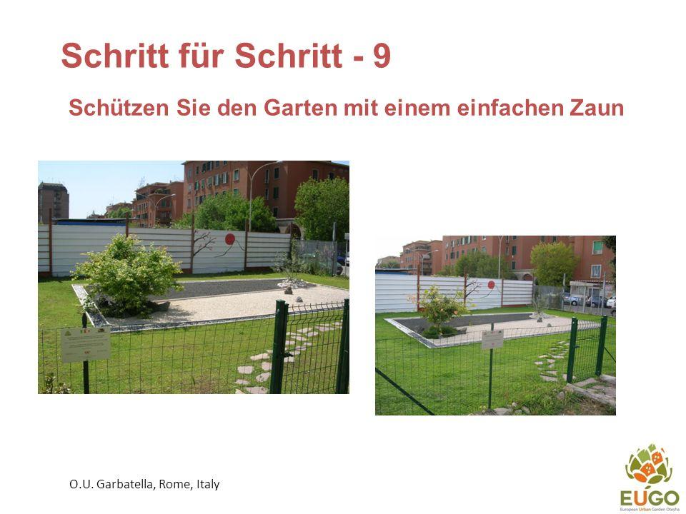 Schritt für Schritt - 9 Schützen Sie den Garten mit einem einfachen Zaun O.U.