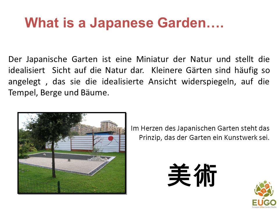 Ein Japanischer Garten in der Stadt Um einen Ort zu haben an dem mensch sich entspannen kann und in einer angenehmen Umgebung ist.