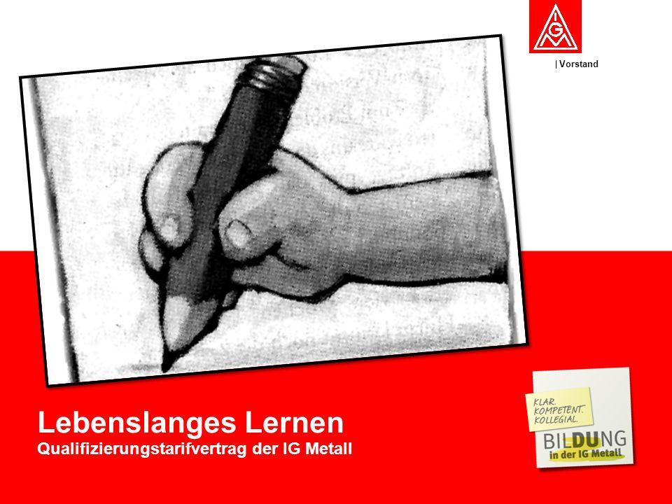 Vorstand Lebenslanges Lernen Qualifizierungstarifvertrag der IG Metall
