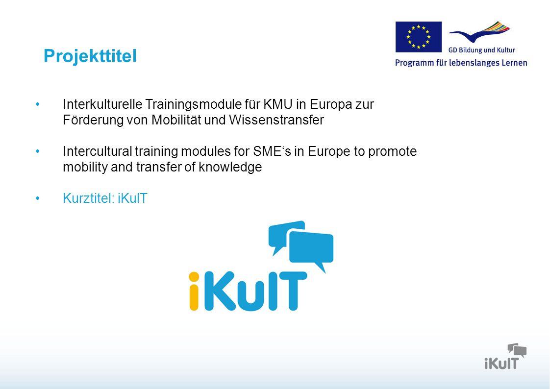Projekttitel Interkulturelle Trainingsmodule für KMU in Europa zur Förderung von Mobilität und Wissenstransfer Intercultural training modules for SMEs