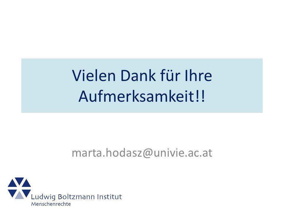 Vielen Dank für Ihre Aufmerksamkeit!! marta.hodasz@univie.ac.at