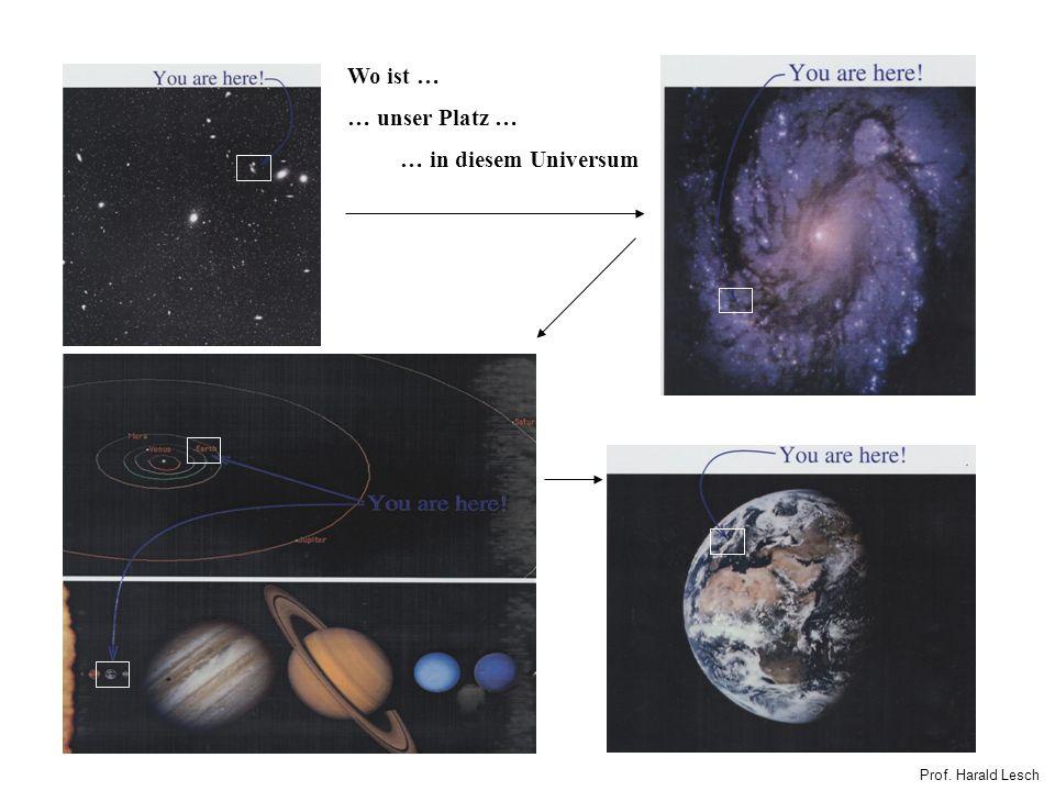 Wo ist … … unser Platz … … in diesem Universum Prof. Harald Lesch