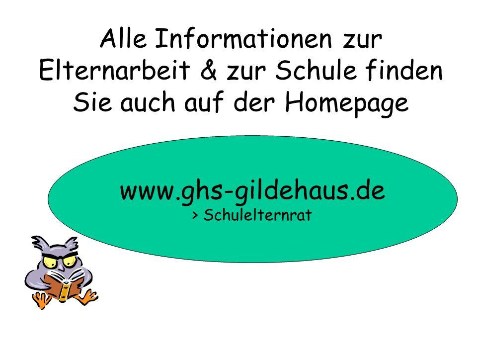 www.ghs-gildehaus.de > Schulelternrat Alle Informationen zur Elternarbeit & zur Schule finden Sie auch auf der Homepage