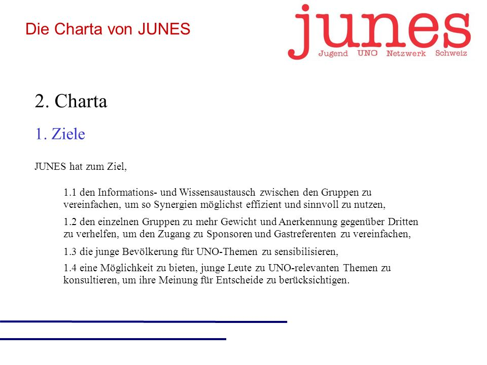 2. Charta 1.