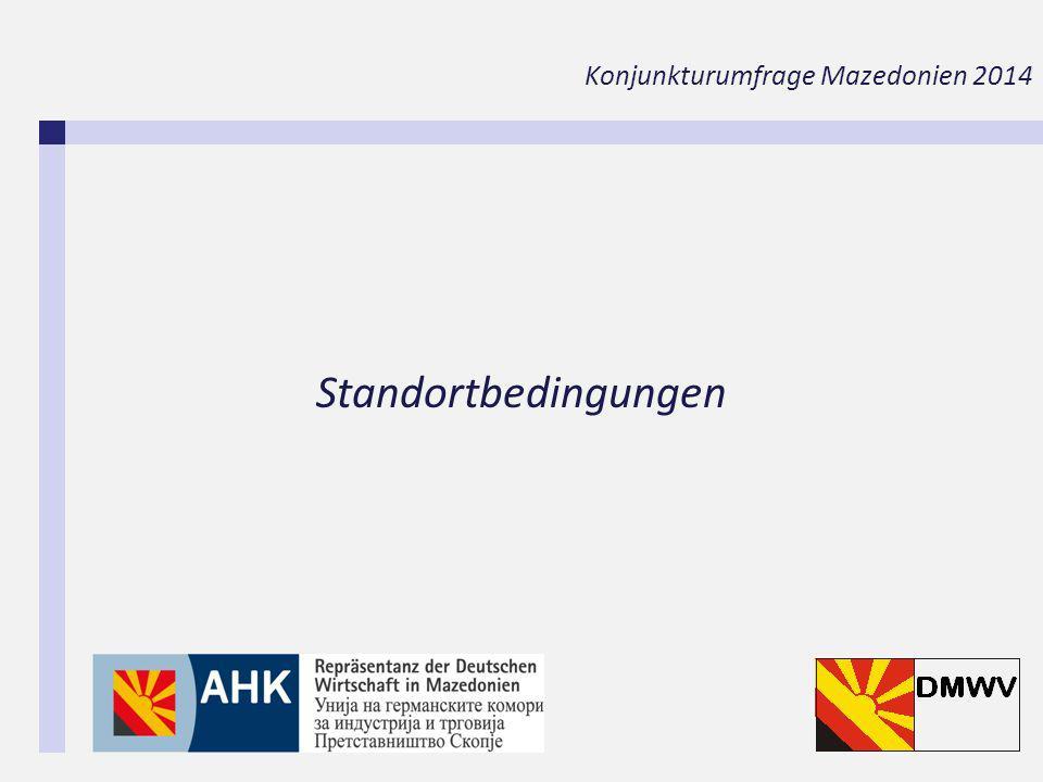 Standortbedingungen Konjunkturumfrage Mazedonien 2014