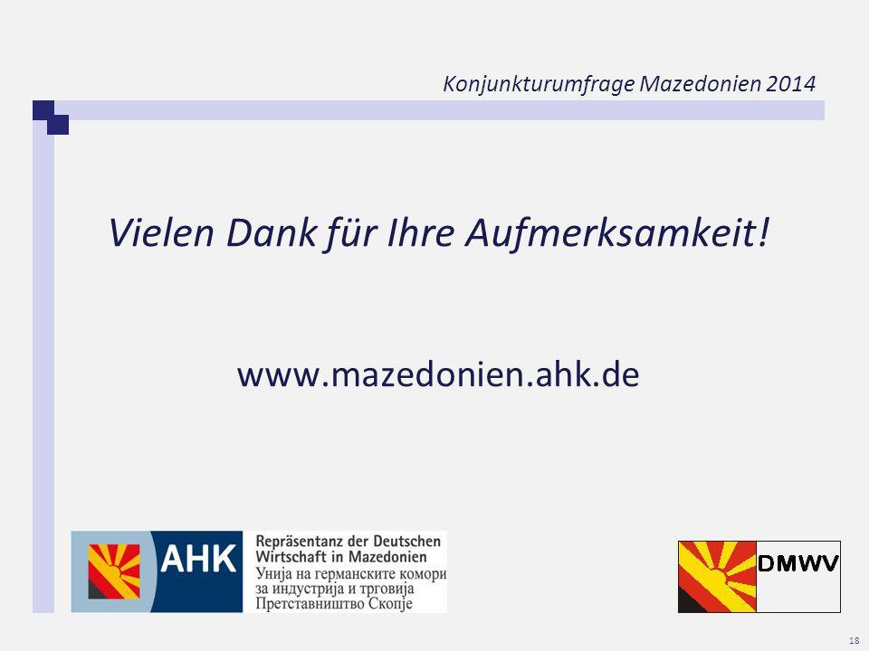 Konjunkturumfrage Mazedonien 2014 18