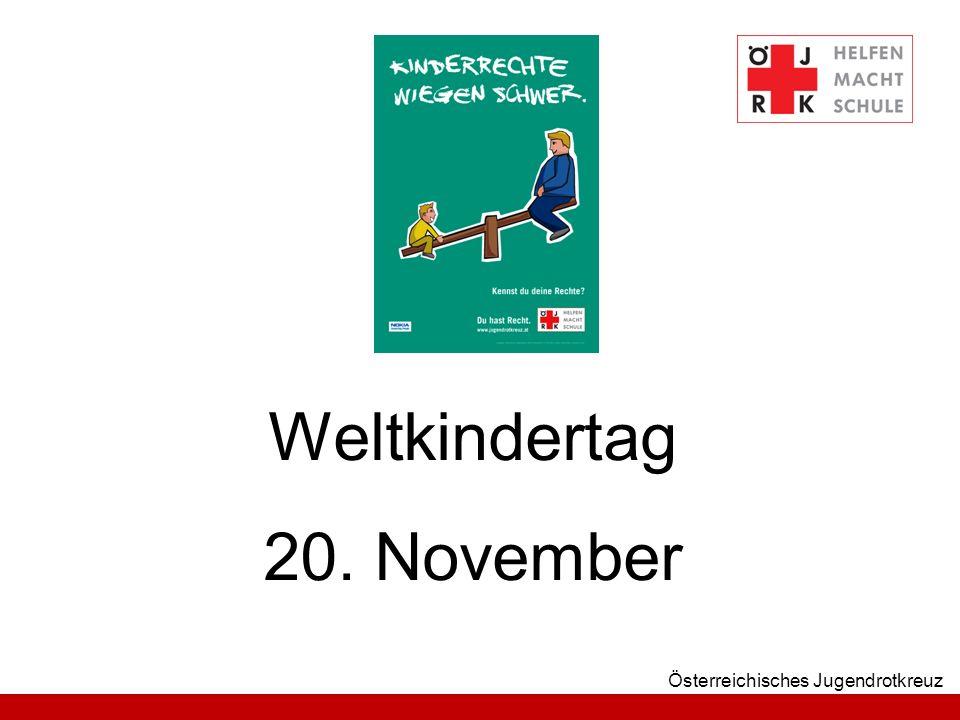 Österreichisches Jugendrotkreuz Weltkindertag 20. November