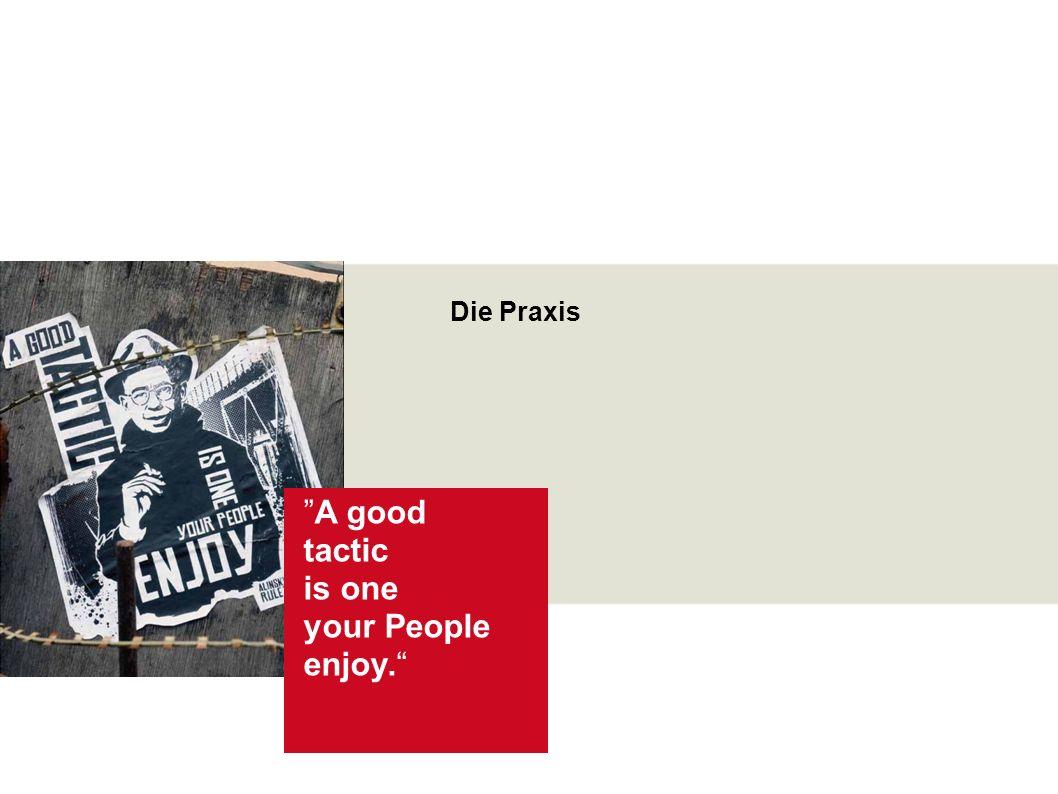 Saul D. Alinsky Organizing und Empowerment Seite 13 Wir und die Junge Generation Über diesen Foliensatz Die Praxis A good tactic is one your People en