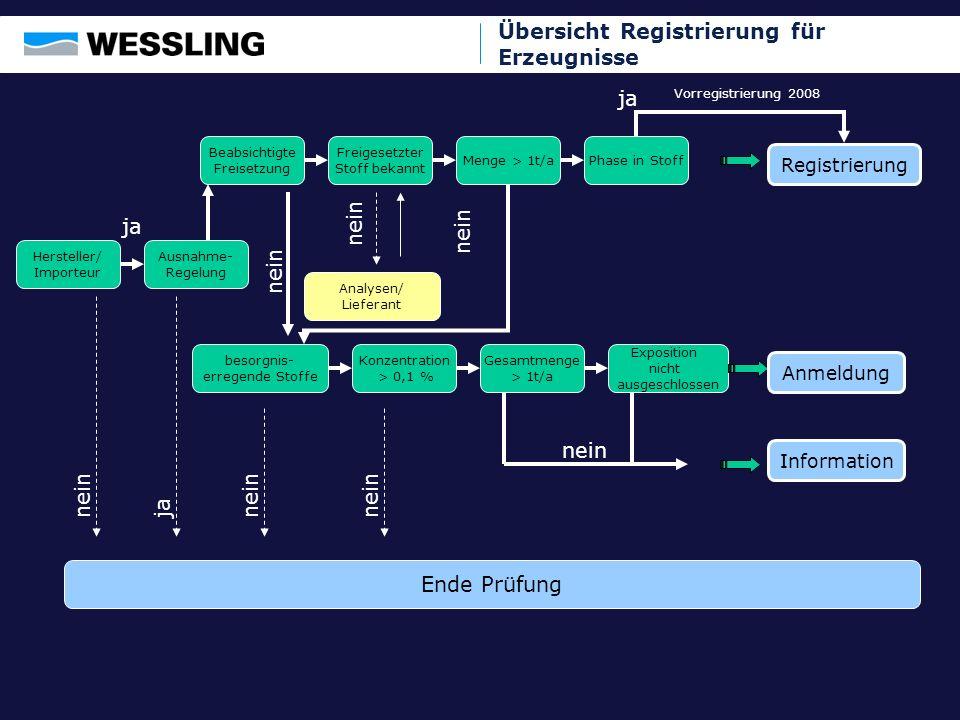 RegistrierungAnmeldungInformation Allgemein Stellt mein Unternehmen Erzeugnisse selber her oder importiert diese in die EU.