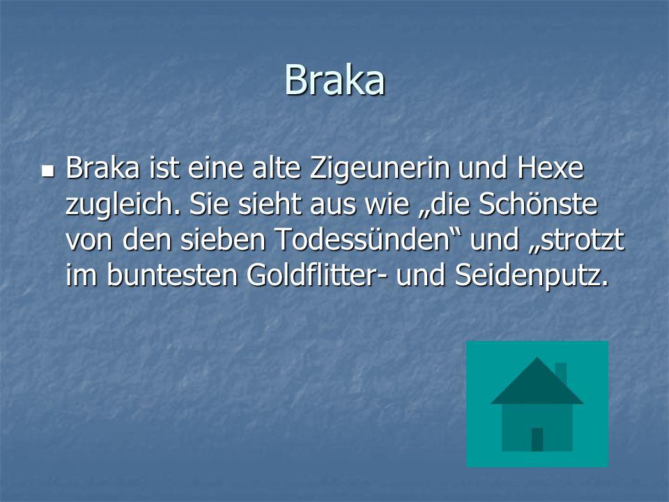 Braka Braka ist eine alte Zigeunerin und Hexe zugleich.
