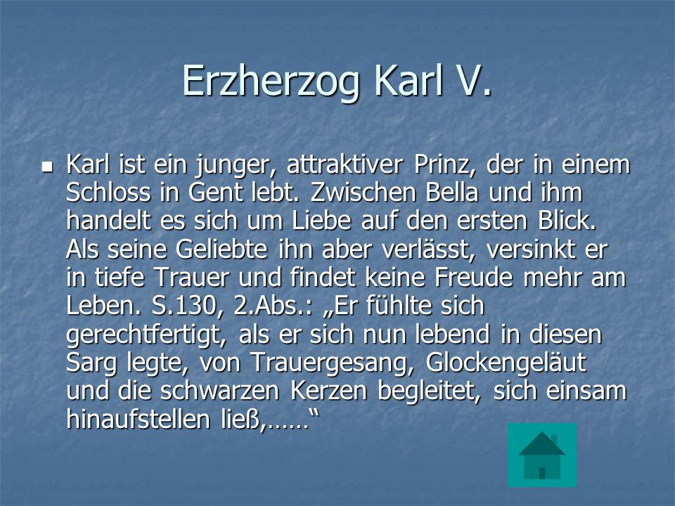 Erzherzog Karl V.Karl ist ein junger, attraktiver Prinz, der in einem Schloss in Gent lebt.