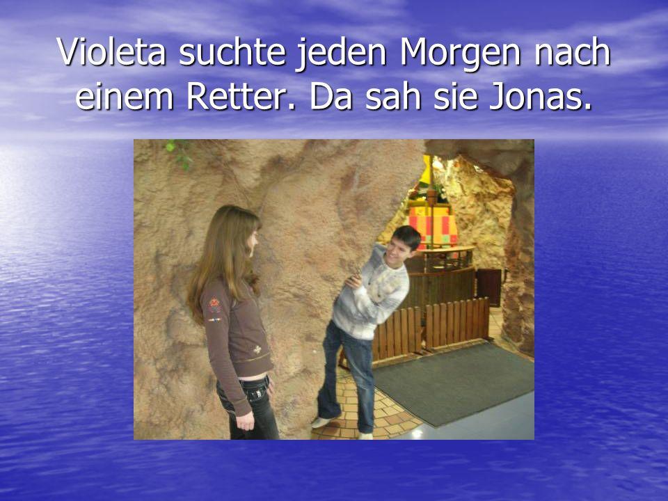 Violeta suchte jeden Morgen nach einem Retter. Da sah sie Jonas.