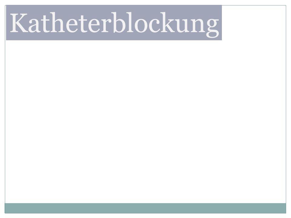 Katheterblockung
