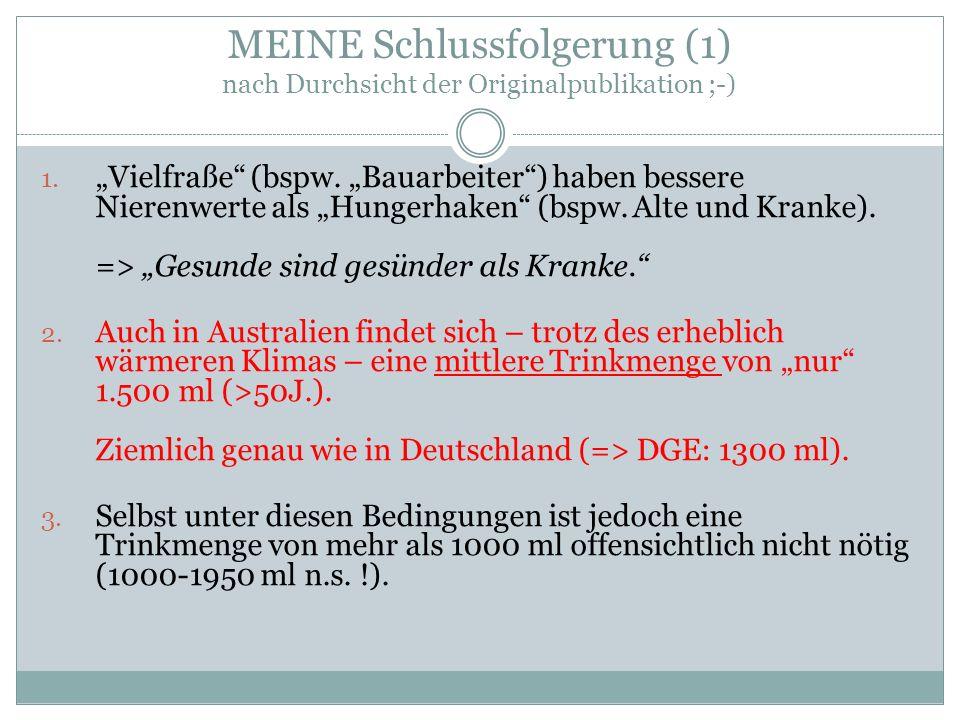 MEINE Schlussfolgerung (1) nach Durchsicht der Originalpublikation ;-) 1.