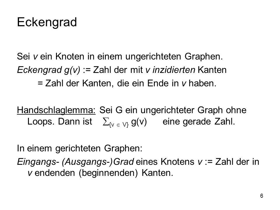 27 Aufwand des Algorithmus von Prim: Erstellung der Eckenliste, der Kantenliste und des ersten Heaps.