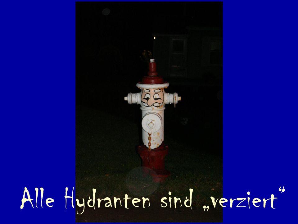 Alle Hydranten sind verziert