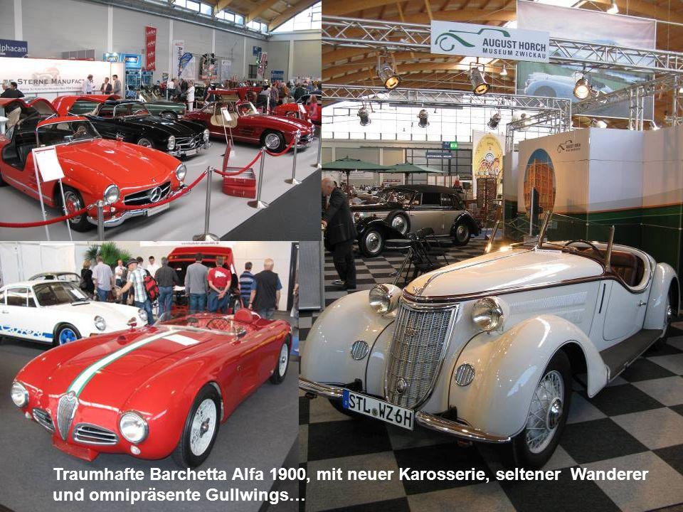 Traumhafte Barchetta Alfa 1900, mit neuer Karosserie, seltener Wanderer und omnipräsente Gullwings…