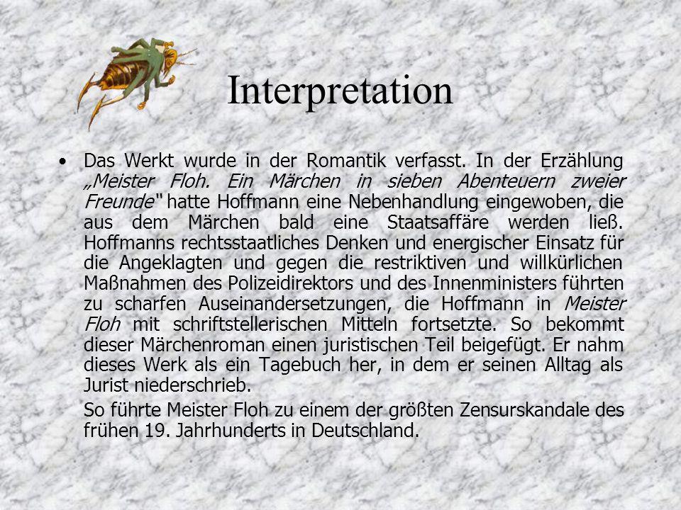 Interpretation Das Werkt wurde in der Romantik verfasst.