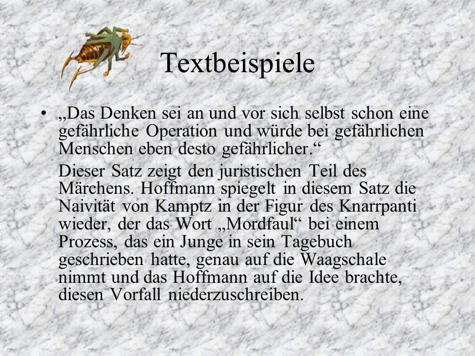 Hauptpersonen Peregrinus Tyß Meister Floh Geheimer Hofrat Knarrpanti