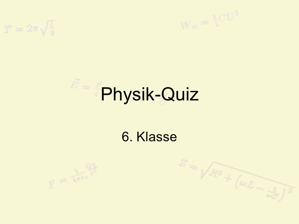 Frage 1: Welche dieser vier Einheiten ist keine SI-Einheit? a.Meter b.Ampere c.Volt d.Mol