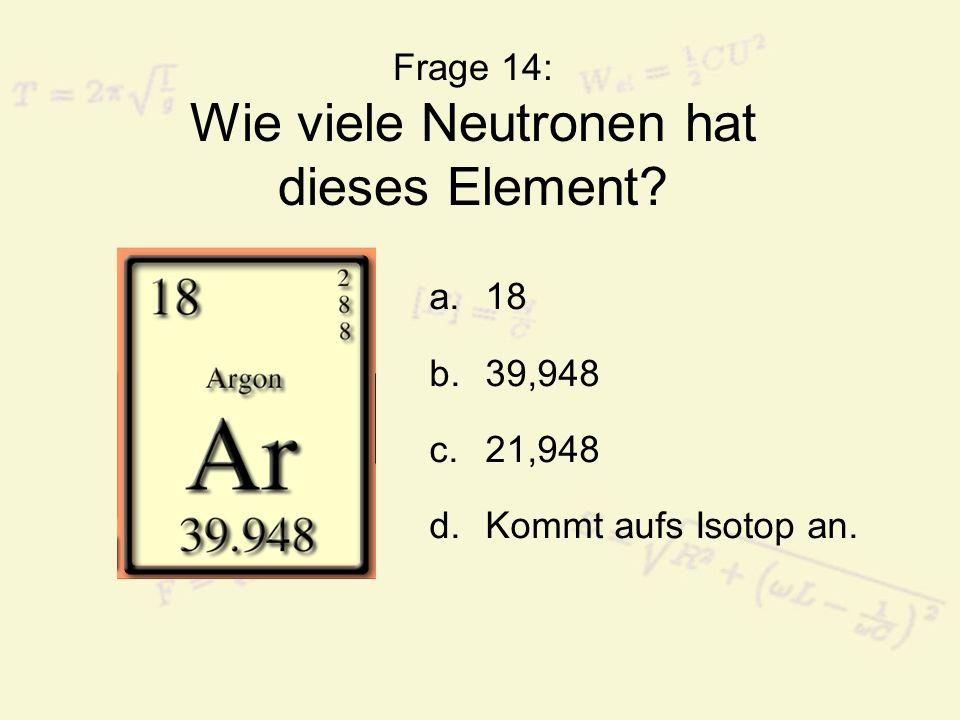 Frage 15: Was ist keine Art elektromagnetischer Strahlung.