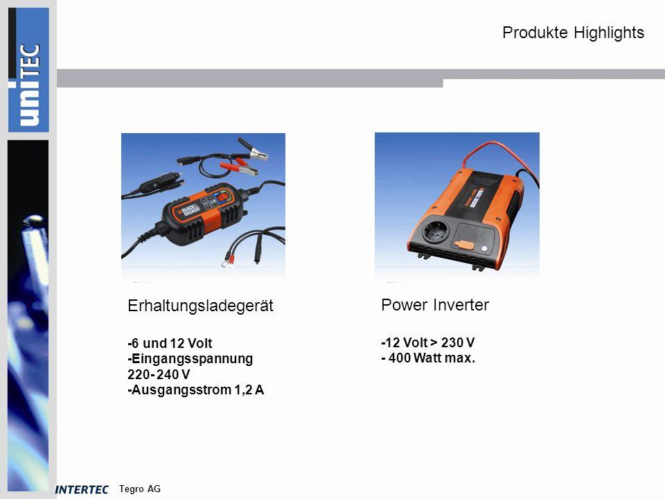 Tegro AG Power Inverter USB - 12 V > 5 Volt USB Power Inverter -12V > 230 V -100 Watt max.
