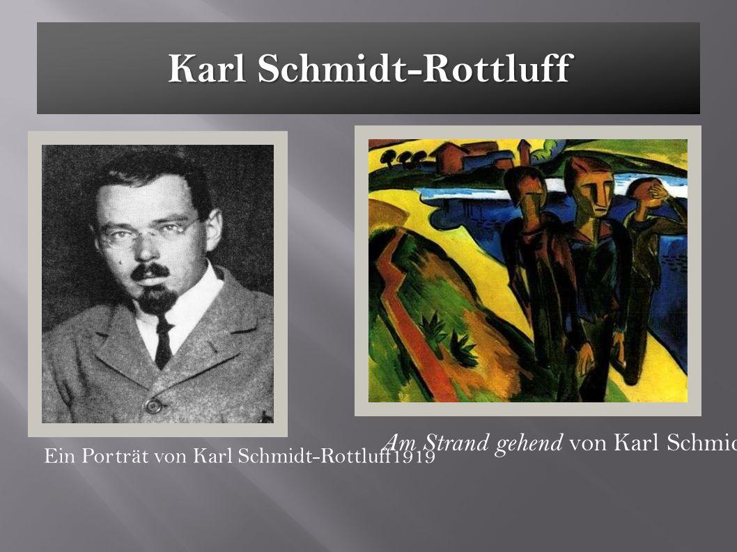 Karl Schmidt-Rottluff Ein Porträt von Karl Schmidt-Rottluff1919 Am Strand gehend von Karl Schmidt-Rottluff
